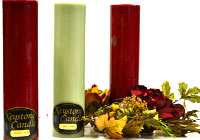 Solid 3x12 Pillar Candles