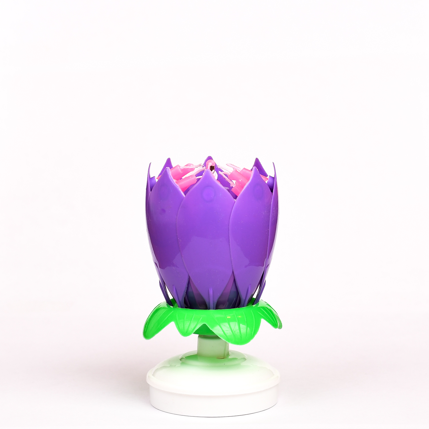 Closed Purple Birthday Candle