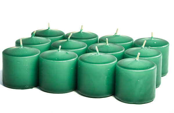 Unscented Forest Green Votives 15 Hour