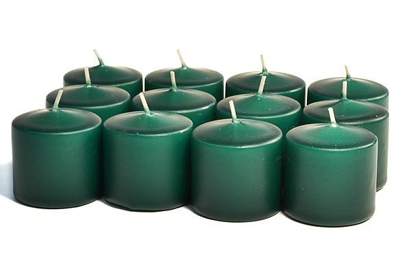 Unscented Hunter Green Votives 10 Hour