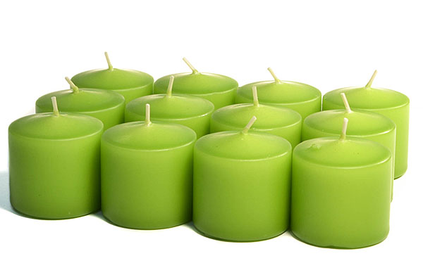 Unscented Lime Green Votives 15 Hour