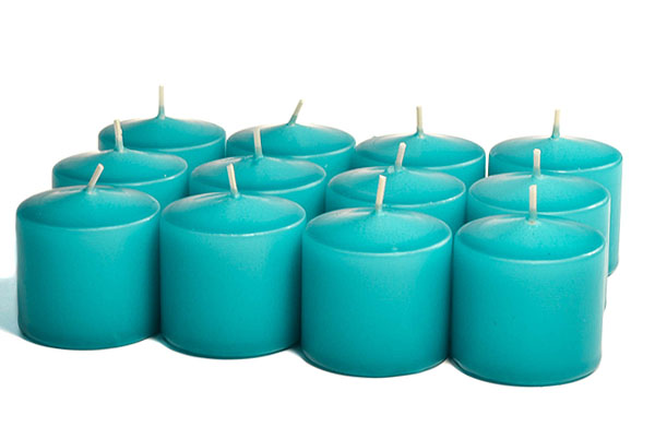 Unscented Mediterranean Blue Votives 15 Hour