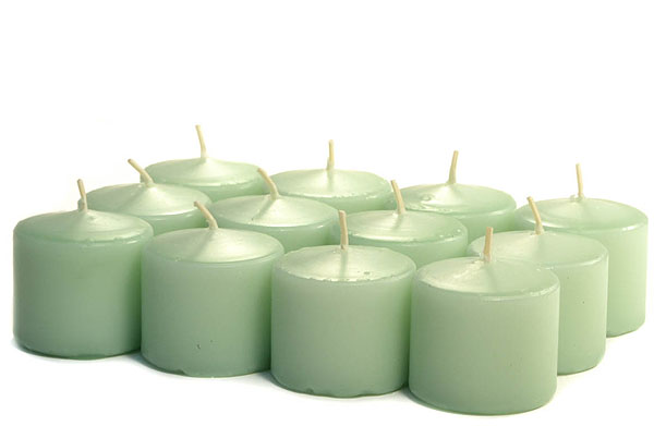 Unscented Mint Green Votives 10 Hour