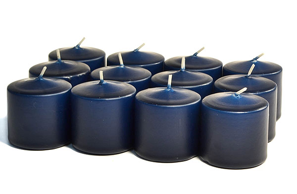 Unscented Navy Votives 15 Hour