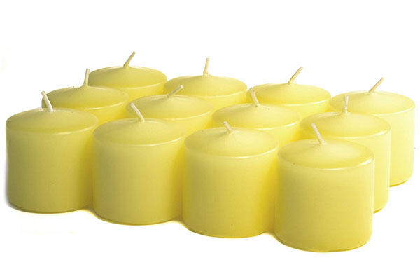 Unscented Pale Yellow Votives 15 Hour