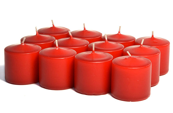 Unscented Red Votives 15 Hour