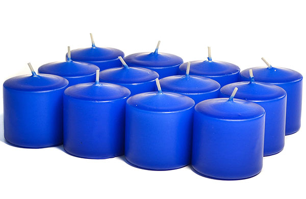 Unscented Royal Blue Votives 15 Hour