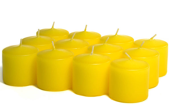 Unscented Yellow Votives 10 Hour