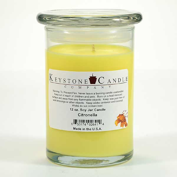 12 oz Citronella Soy Jar Candles