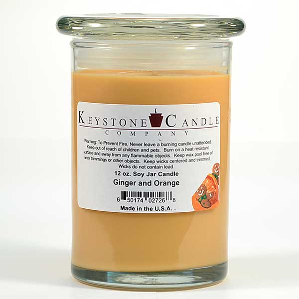 12 oz Ginger and Orange Soy Jar Candles