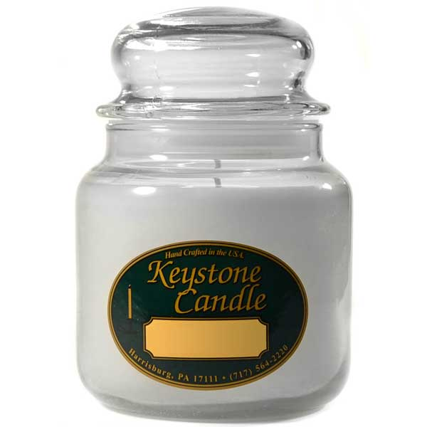16 oz White Unscented Jar Candles