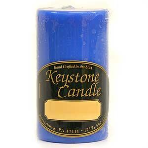Blue Christmas 2x3 Pillar Candles