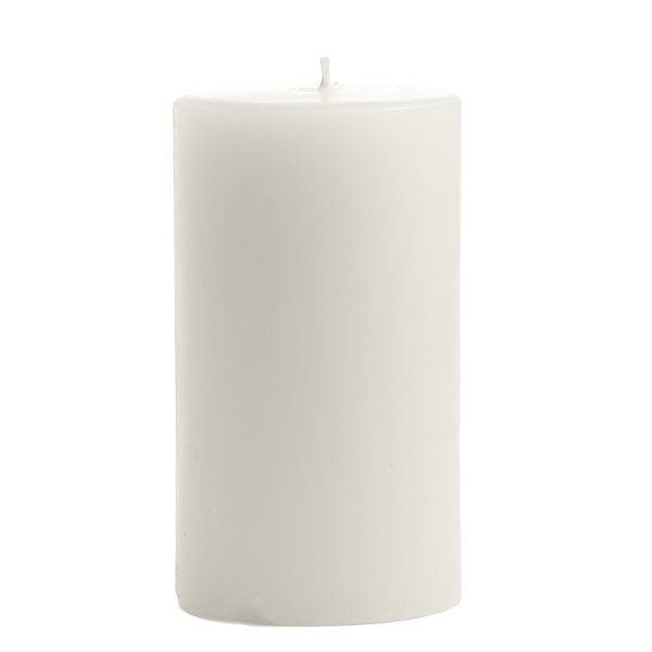 Unscented White 2x3 Pillar Candles