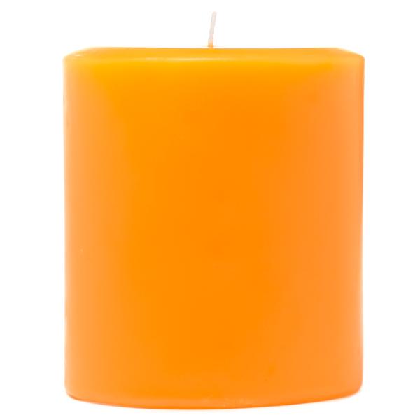 Orange Twist 3x3 Pillar Candles