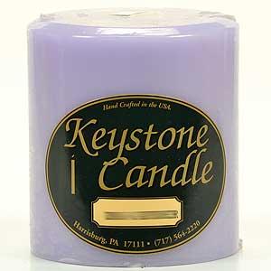 Lemon Lavender 4x4 Pillar Candles