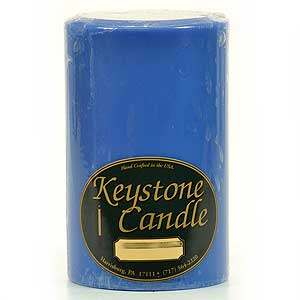 Blue Christmas 4x6 Pillar Candles