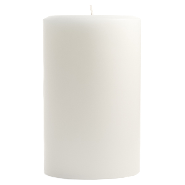 Unscented White 4x6 Pillar Candles