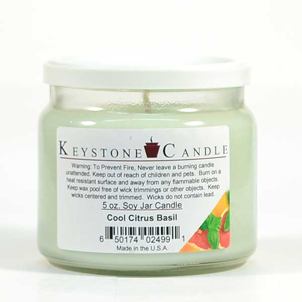 5 oz Cool Citrus Basil Soy Jar Candles
