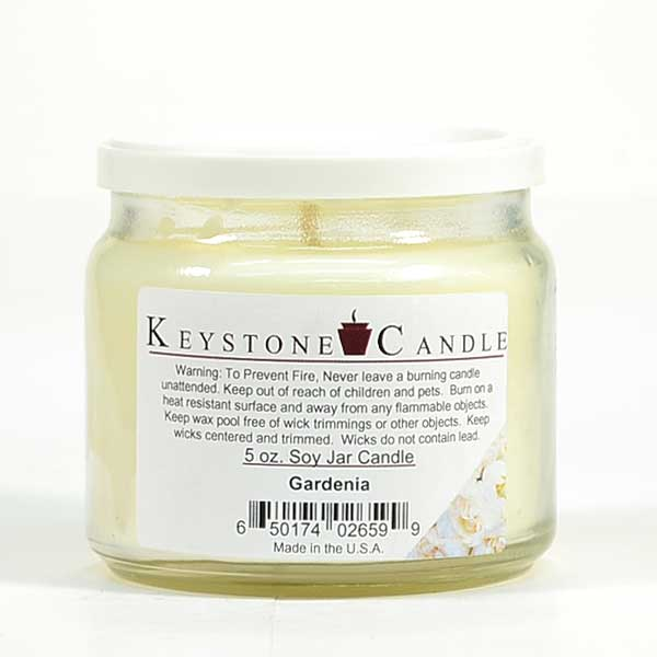 5 oz Gardenia Soy Jar Candles