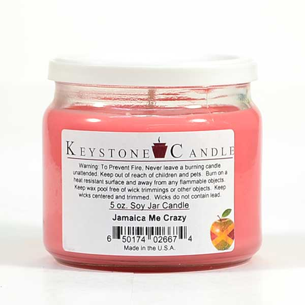 5 oz Jamaica Me Crazy Soy Jar Candles