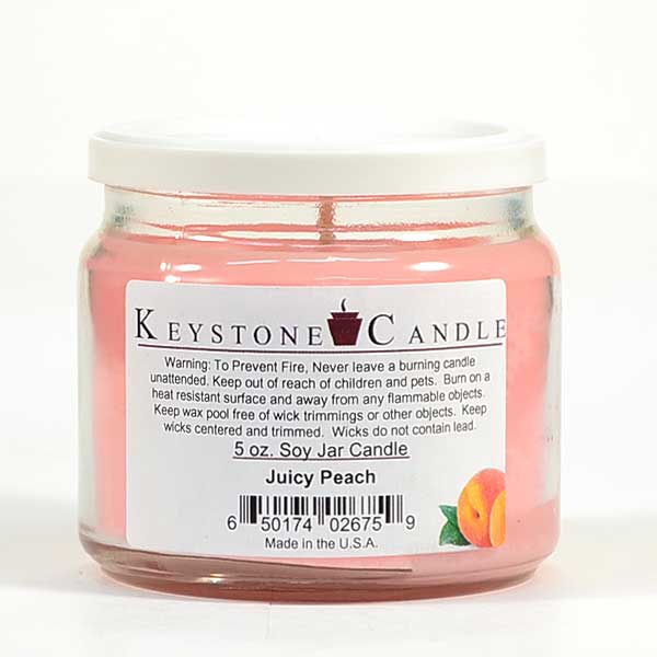 5 oz Juicy Peach Soy Jar Candles