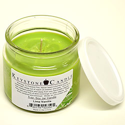 5 oz Lime Vanilla Soy Jar Candles