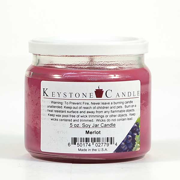 5 oz Merlot Soy Jar Candles