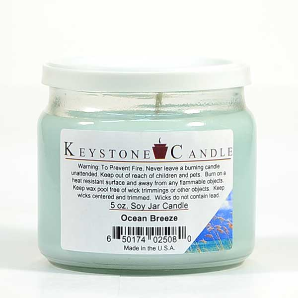 5 oz Ocean Breeze Soy Jar Candles