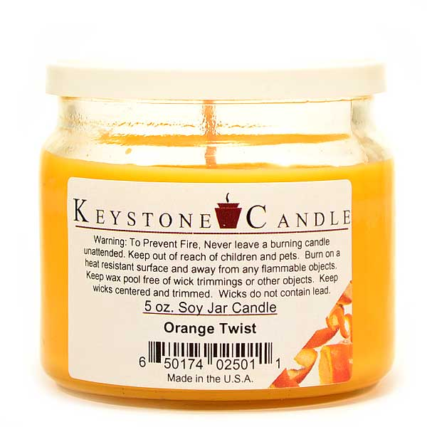 5 oz Orange Twist Soy Jar Candles