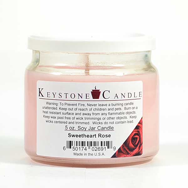 5 oz Sweetheart Rose Soy Jar Candles