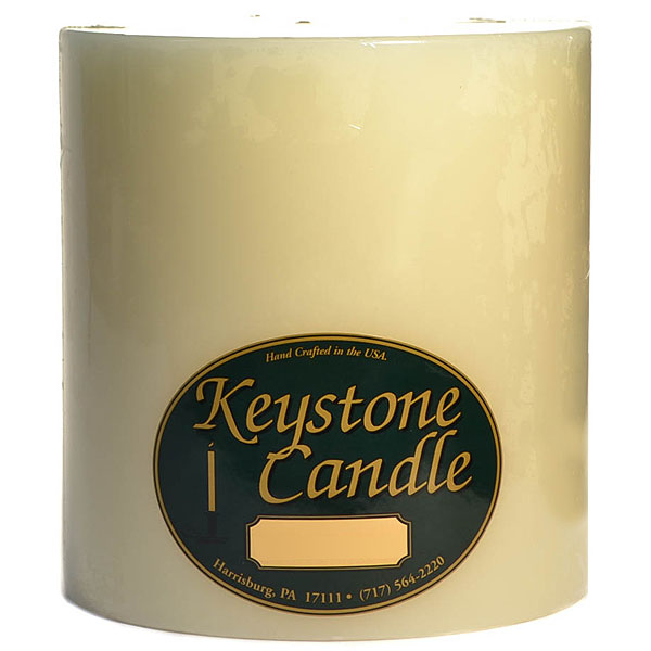Unscented Ivory 6x6 Pillar Candles