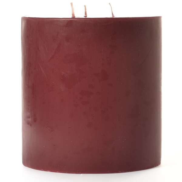 Leather Pipe and Woods 6x6 Pillar Candles