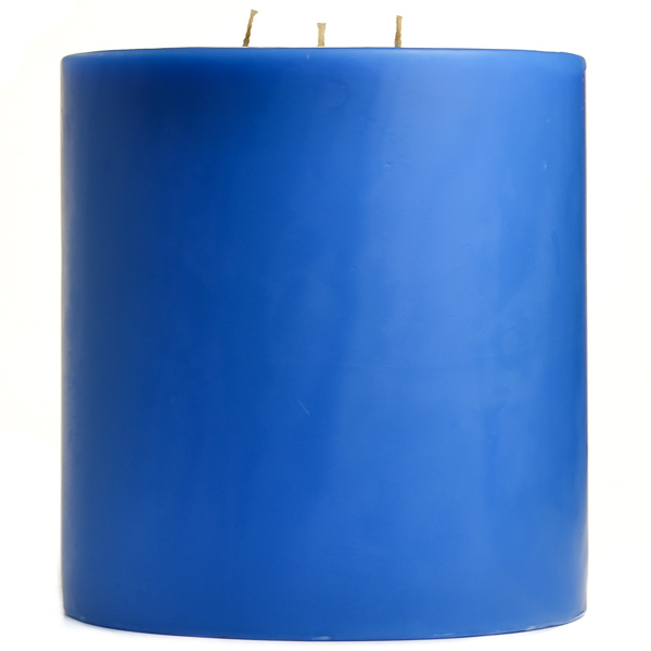 Blue Christmas 6x6 Pillar Candles
