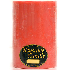 Juicy Peach 6x9 Pillar Candles