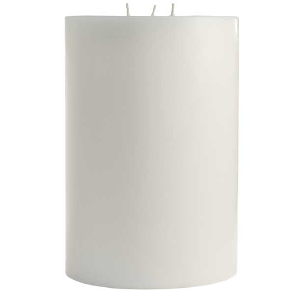 Unscented White 6x9 Pillar Candles