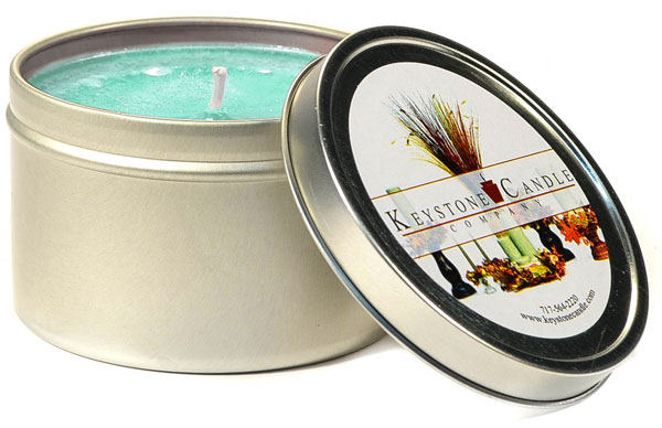 Cool Citrus Basil Candle Tins 8 oz