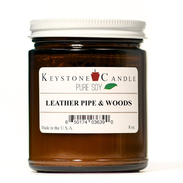 Pure Soy Leather Pipe and Woods 8 oz