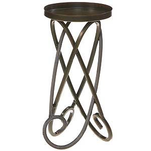 Metal Candle Holders Looped Legs 9 Inch