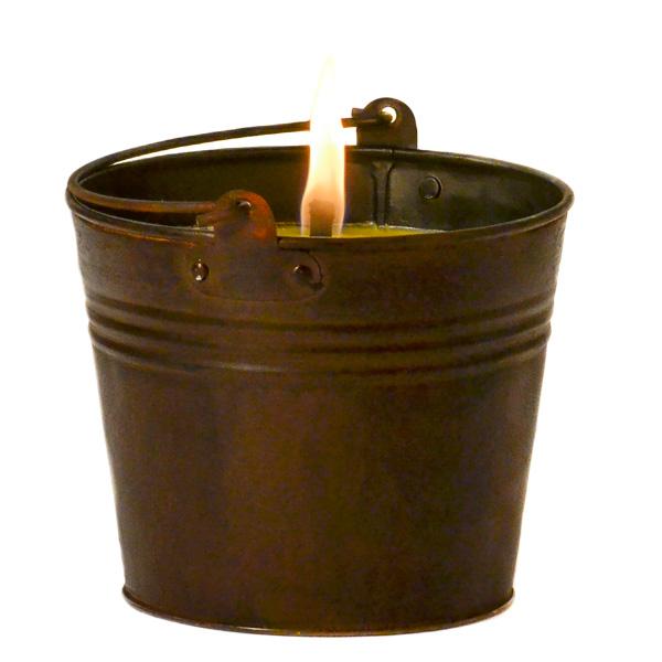 Citronella Bucket Outdoor Candle Dark Brown 22 oz.