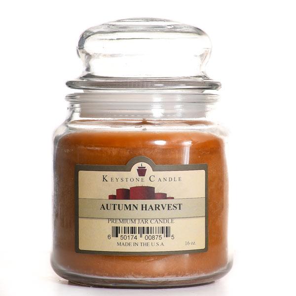 16 oz Autumn Harvest Jar Candles