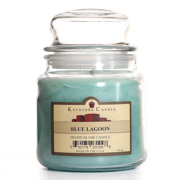 16 oz Blue Lagoon Jar Candles