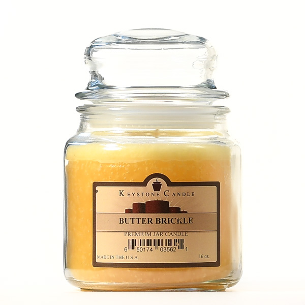 16 oz Butter Brickle Jar Candles