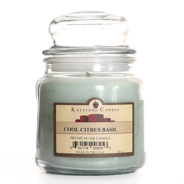 16 oz Cool Citrus Basil Jar Candles