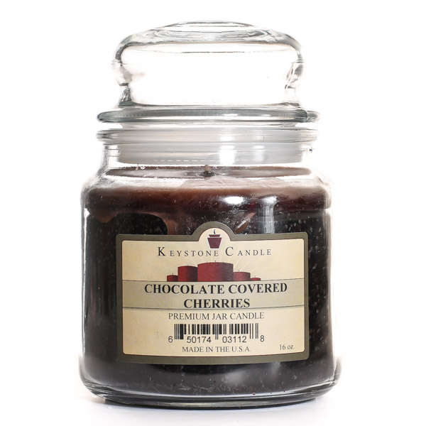 16 oz Chocolate Covered Cherries Jar Candles