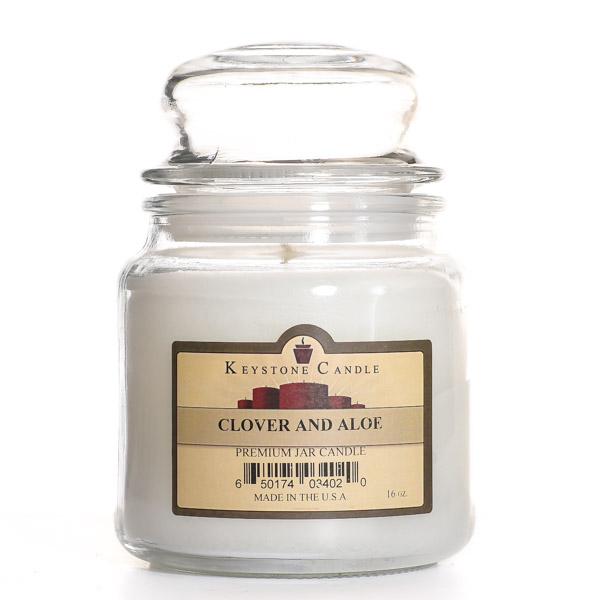 16 oz Clover and Aloe Jar Candles