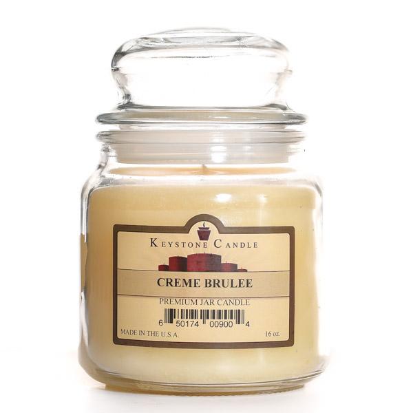 16 oz Cream Brulee Jar Candles