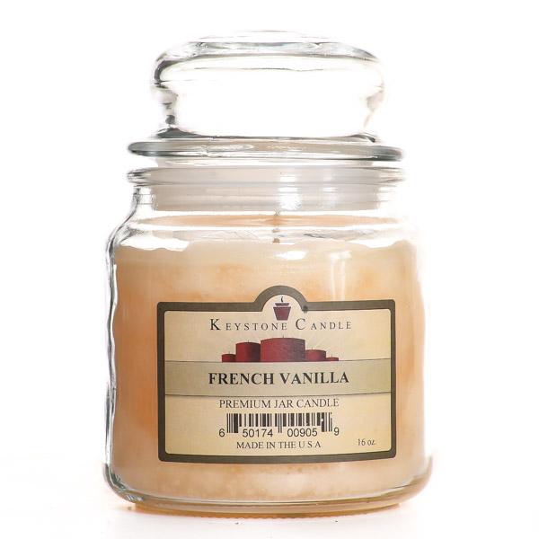 16 oz French Vanilla Jar Candles
