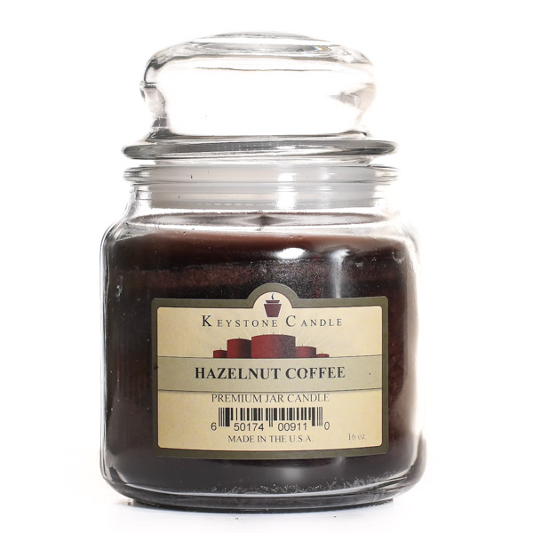 16 oz Hazelnut Coffee Jar Candles
