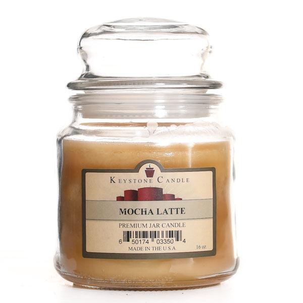 16 oz Mocha Latte Jar Candles