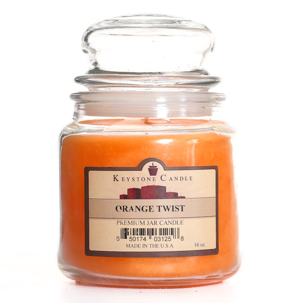 16 oz Orange Twist Jar Candles